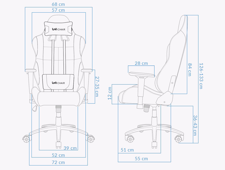 UVI Back in Black Tkanina Chair Measurements