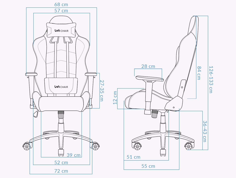 UVI Devil Red Gaming Chair Measurements