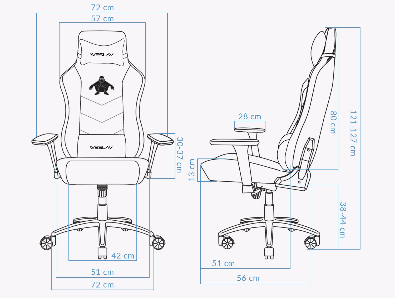 UVI x WESLAV Chair Measurements