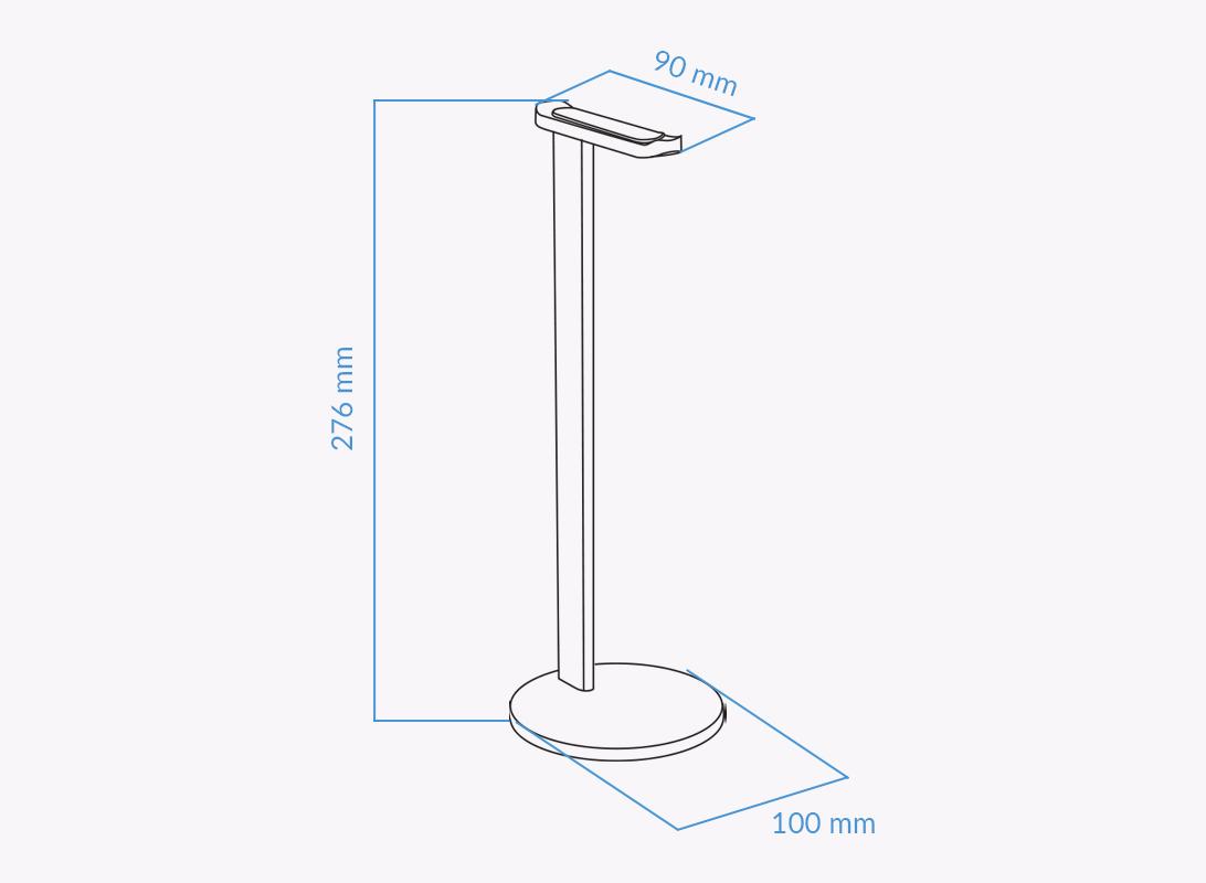 UVI Headphone Stand Measurements